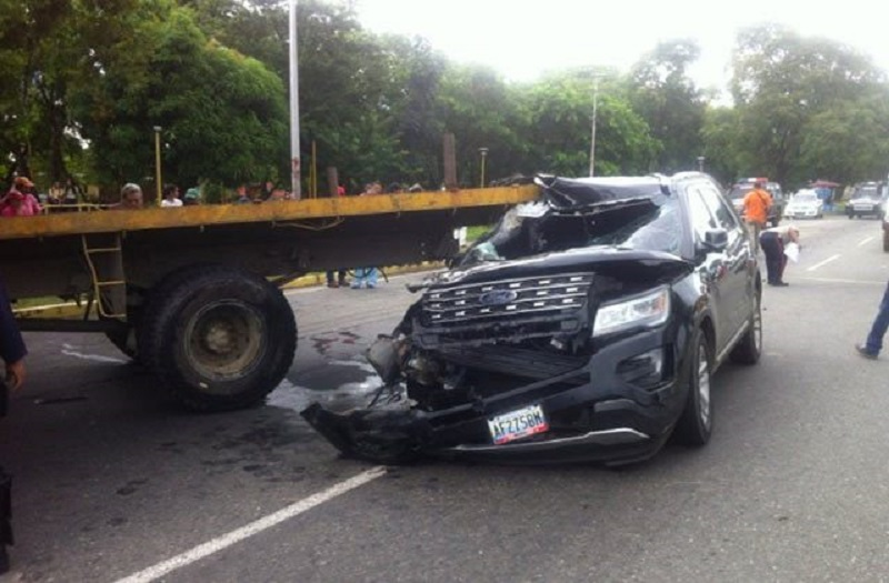 Alcalde de Guanare resultó ileso tras sufrir accidente de tránsito
