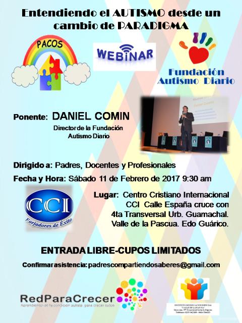Fundación  PACOS invita al Webinar Autismo Diario