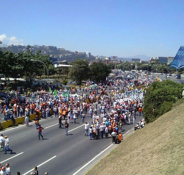 Oposición se concentró hoy en Caracas para pedir liberación de Leopoldo López