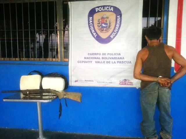 Por robo y porte de arma de fuego la PNB