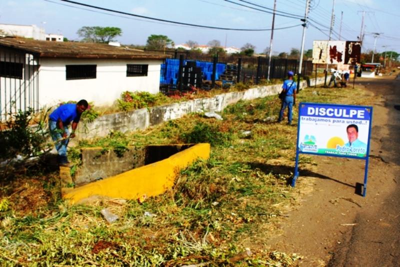 Alcalde Pedro Loreto ordena continuar con el plan de limpieza y embellecimiento