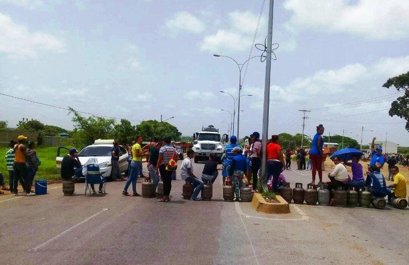 Protestaron en Chaguaramas por falta de gas doméstico