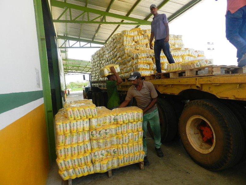 Silmaca despachó 30 mil kilos de harina Doña Goya para Valle de La Pascua