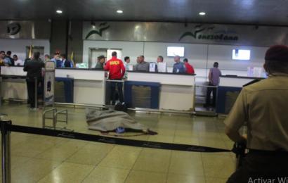 Asesinaron a pasajero en el Aeropuerto de Maiquetía