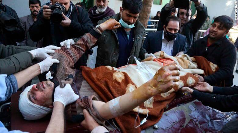 heridos en el atentado suicida