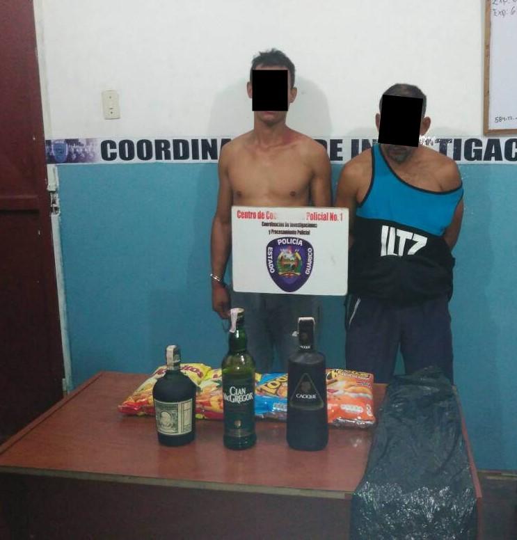 detenidos en San Juan de los Morros