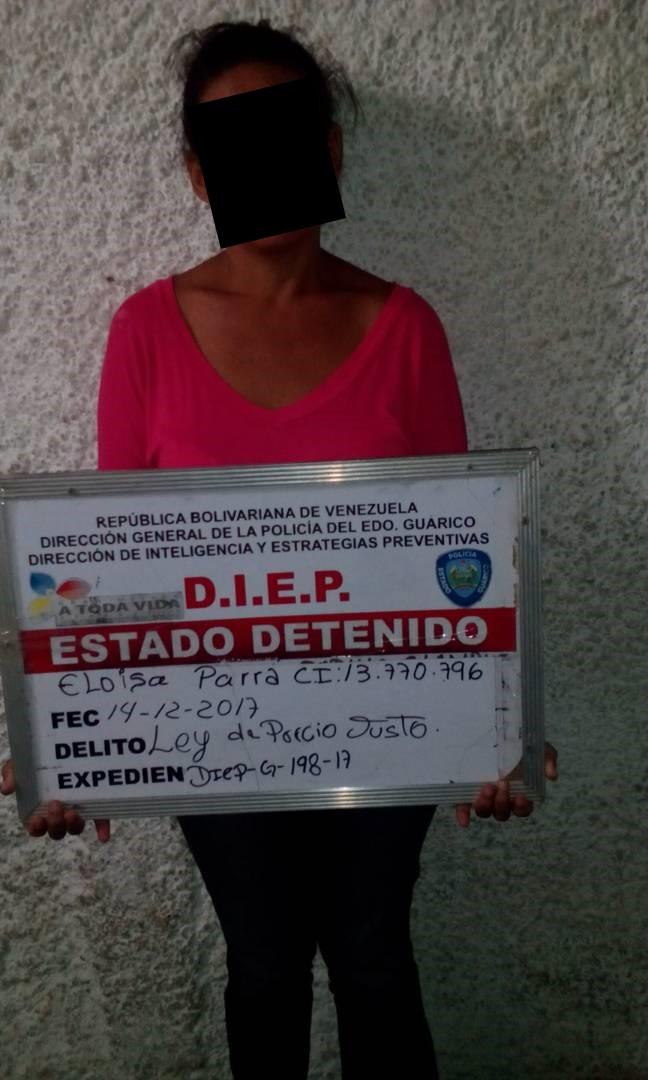 mujere capturada bachaqueando medicamentos
