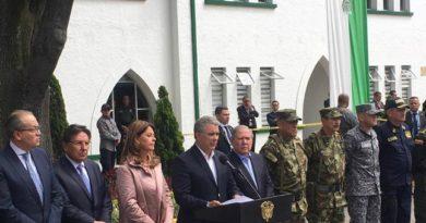 El presidente colombiano declara su indignacion ante los atentados