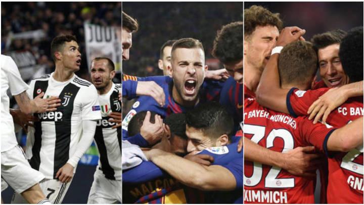 No hay más equipos: Barcas, Juventus,y Bayern solos en finales por diez años.