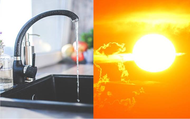 Alternativa solar: Placas de captación solar.