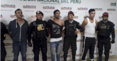 La banda venezolana capturada, la llmaban Los venecos del Surco.
