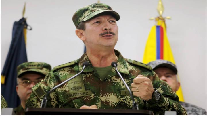 Comandante en jefe Nicacio Martínez Espinel en declaraciones.