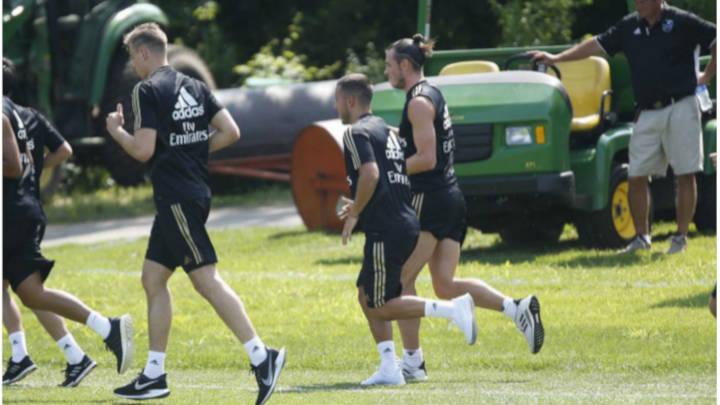 Hazard- Bale juntos en las practicas de Montreal.