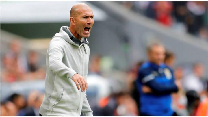 Zidane contento por el triunfo solo quiere competir.