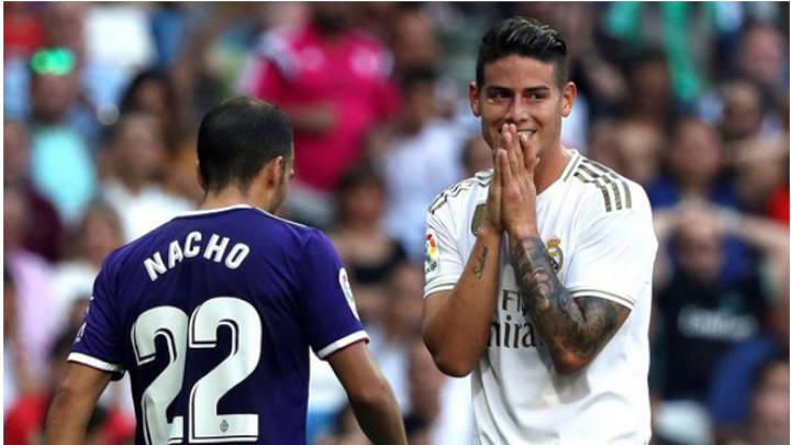 James Rodriguez se lesiona en el Juego de Valladolid