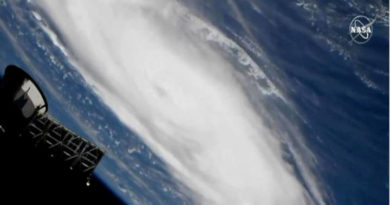 Dorián visto desde el espacio por la NASA