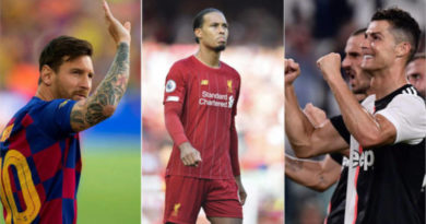 Los candidatos Messi, Van Dijk y Ronaldo para The Best FIFA 2019