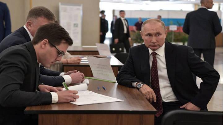 Putin en las elecciones de Moscú de este año.