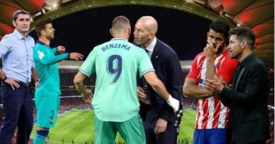 Valverde, Zidane y Simeone técnicos de los equipo que lideran La Liga