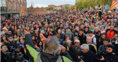 Una de las manifestaciones en Vic