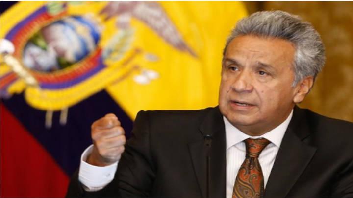El presidente de Ecuador, Lenin Moreno en declaraciones sobre la situación del país.