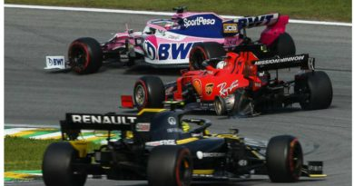 Así quedo el auto de Vettel luego del accidente con Leclerc