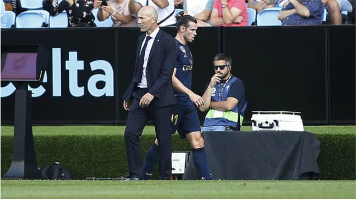 Zidane y Bale durante un juego