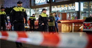 La policía del lugar limitó el lugar del suceso.
