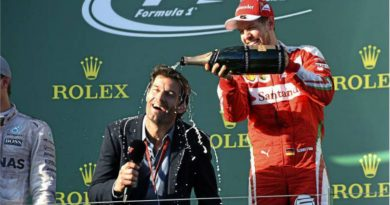 Vettel y Webber en el podio en 2016