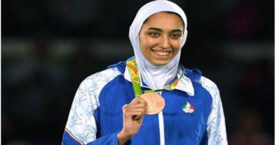 La medallista no representara a la bandera irani
