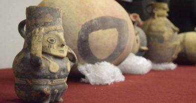 Parte de las piezas entregadas a Perú por parte del gobierno de México