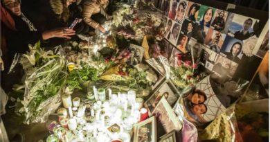 Vigilia por los fallecidos en el accidente aéreo provocado por el ataque irani