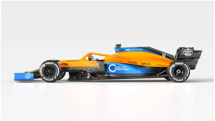 McLaren presenta a MCL35 2020 de aspecto imponente