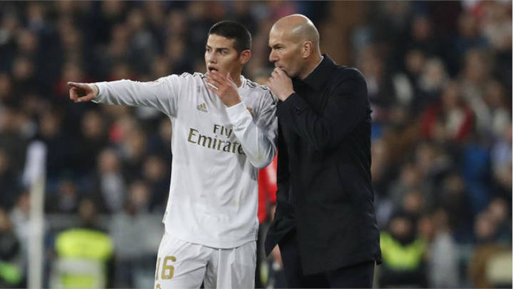 Zidane coloco a James por minutos, en un juego tan decisivo