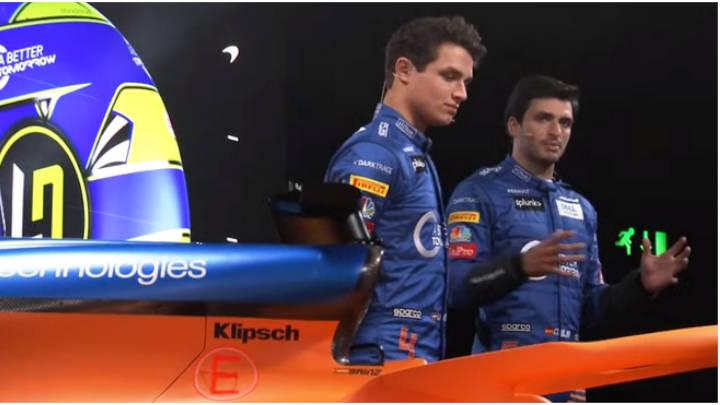 Los pilotos Carlos Sainz y Lando Norris