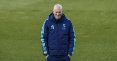 Zinedine Zidane, técnico francés del Real Madrid