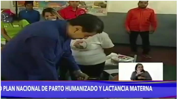 Maduro durante el acto