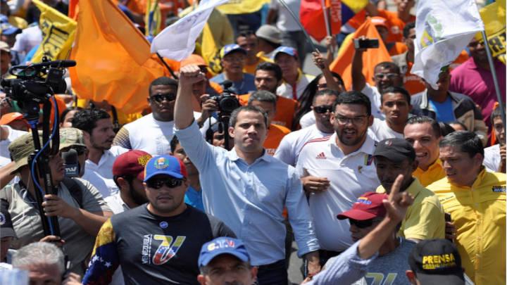 El líder opositor, Juan Guaidó