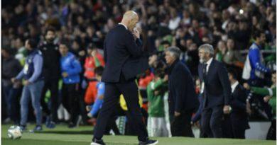Zidane contrariado por los resultados obtenidos ante el Betis