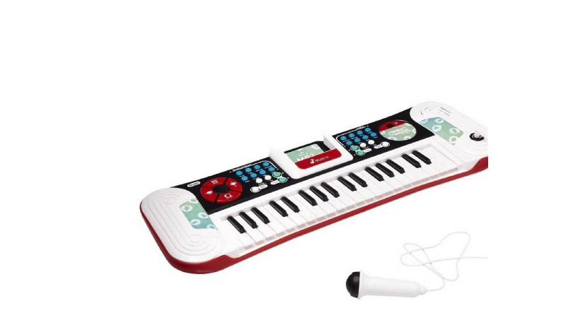 Para los niños amantes de la música Para los pequeños que amen la música este teclado es perfecto. Es MP3 Dj music, que cuenta con 8 ritmos, 8 tonalidades de instrumentos, 4 tambores, el control para la velocidad, más 8 canciones como demostración y la función para grabar y luego reproducir. Es excelente regalo.