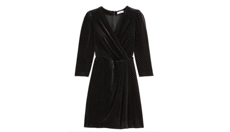 Un vestido en terciopelo negro