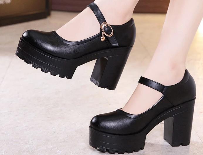 zapatos con tocón alto Mary Jane