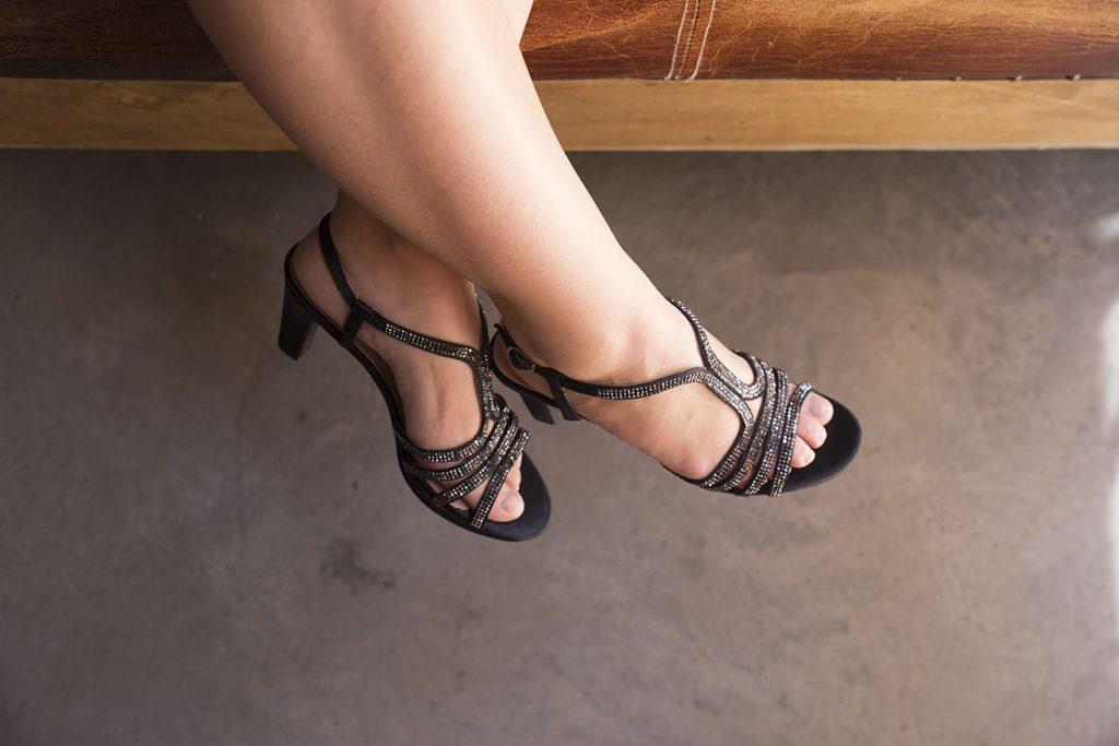 zapatos negros para fiesta