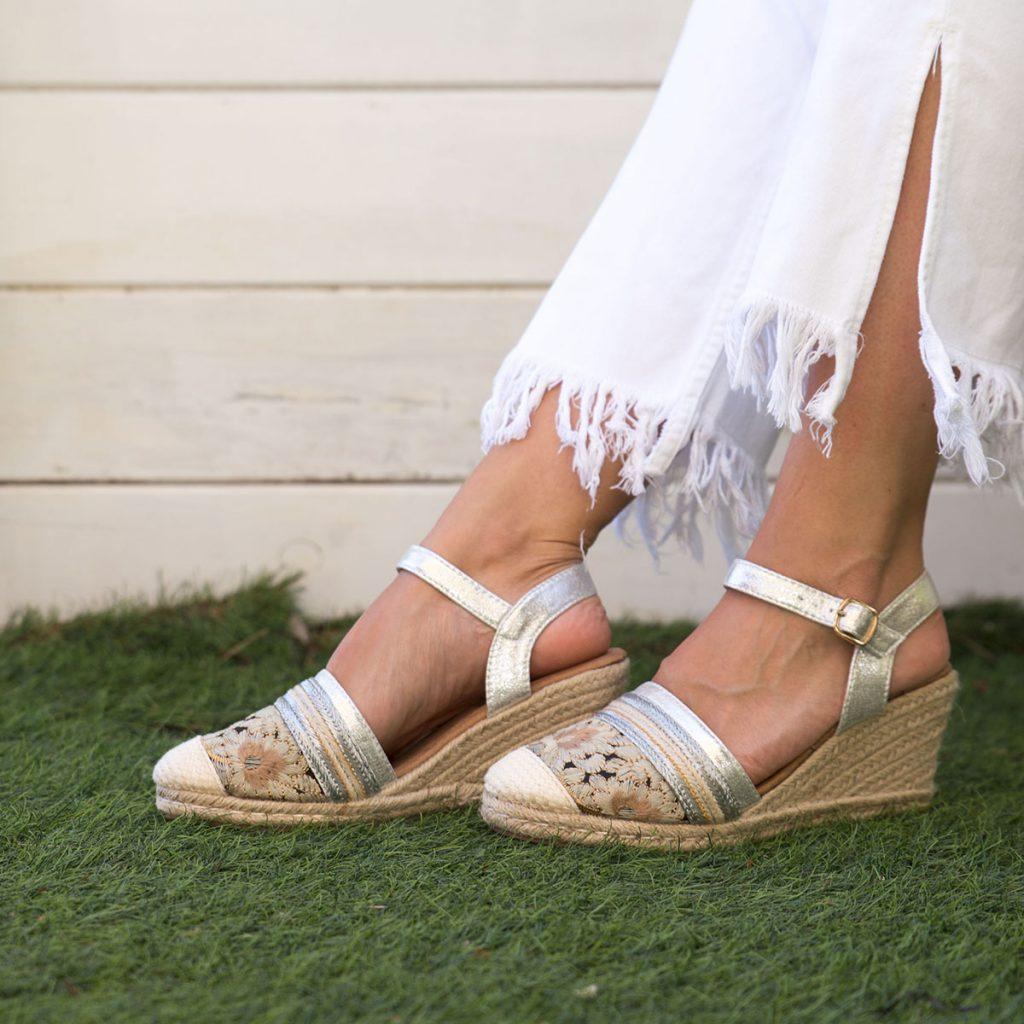 zapatos mujer cuña esparto