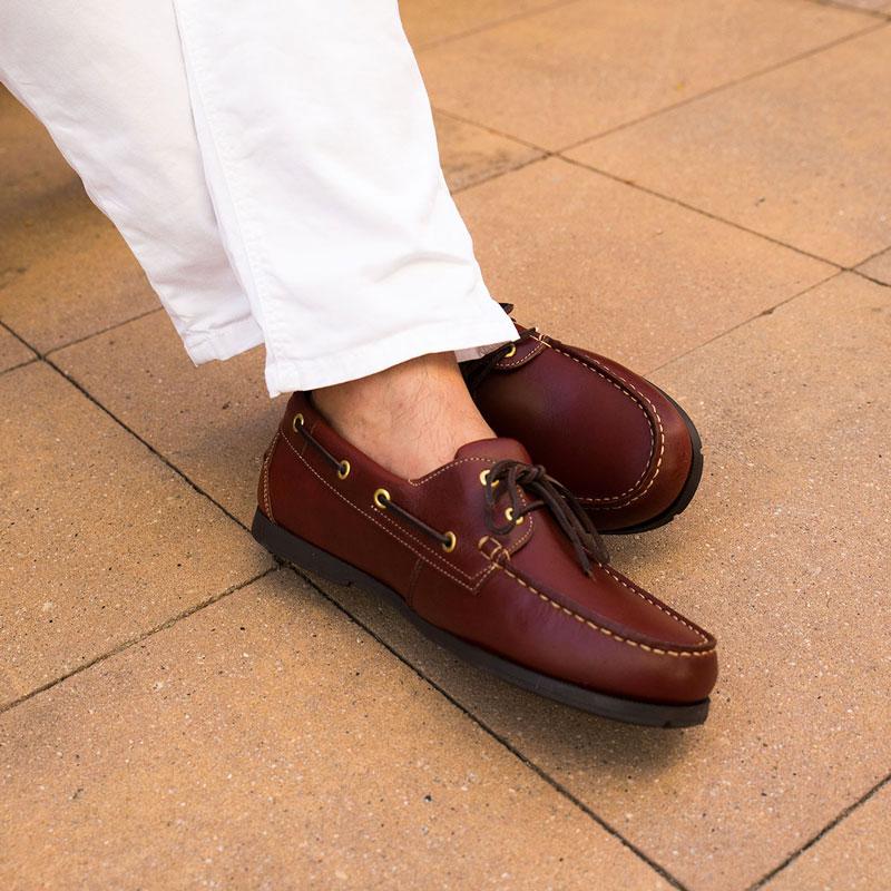 zapatos nauticos con cordones para hombre